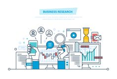 Business research. Business analysis, data analytics, strategy statistic and planning. Business research. Business analysis, data analytics and research Royalty Free Stock Photos