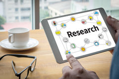 Business Research Data Economy Stock Image