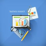 Business research illustration Royalty Free Stock Photography