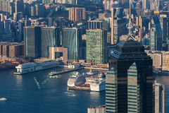 Business and Residential Skyscraper at  Hong Kong Royalty Free Stock Photo