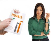Business results Royalty Free Stock Images