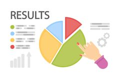 Business results concept. Business results concept illustration. Information data with analysis Stock Photos