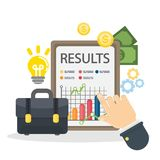 Business results concept. Royalty Free Stock Photos
