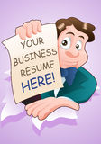 Business resume banner Stock Image