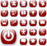 Business Retail Icons Ruby Red Royalty Free Stock Image