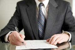 Business review Stock Images