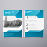 Business Review Brochure Stock Photo