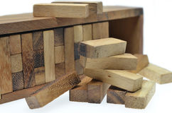 Business risk concept with jenga game Stock Images