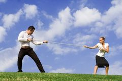 Business rivalry concept stock photo