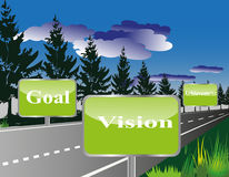 Business Roadmap or vision or Goal or Achievement Stock Photo