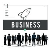 Business Rocket Ship Icon Graphic Concept Stock Photography