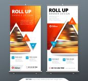 Business Roll Up Banner stand. Presentation concept. Abstract modern roll up background. Vertical roll up template. Billboard, banner stand or flag design Royalty Free Stock Photos