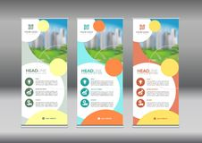 Business Roll Up. Standee Design. Banner Template.. stock illustration