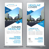 Business Roll Up. Standee Design. Banner Template. Royalty Free Stock Photo