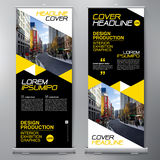 Business Roll Up. Standee Design. Banner Template. stock illustration