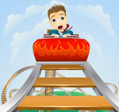 Business roller coaster ride concept Stock Photos