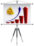 Business roller screen Stock Photo