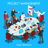 Business Room 01 People Isometric Royalty Free Stock Photos