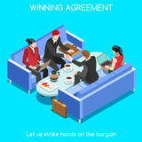 Business Room 02 People Isometric Royalty Free Stock Photography