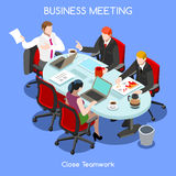 Business Room 03 People Isometric Royalty Free Stock Photo