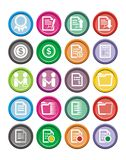 Business round icon sets Royalty Free Stock Image