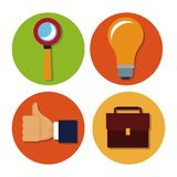 Business round icons. Icon vector illustration graphic design Stock Photo
