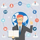 Business rules infographics Stock Image