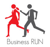 Business run. Vector illustration of the concept of a business run Royalty Free Stock Image