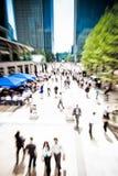 Business rush crowd Stock Image