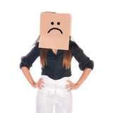 Business sad face gesture Royalty Free Stock Photo