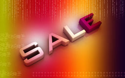 Business sale. Digital illustration of Business sale in 3d on colour background royalty free illustration