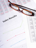 Business sales charts Stock Images