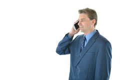 Business or sales man on the phone Stock Photography