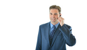 Business or sales man presenting or customer service representative Royalty Free Stock Image