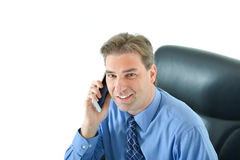 Business or sales man talking on the phone Royalty Free Stock Images