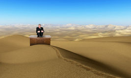Business Sales Marketing Desolate Desert Stock Photo