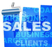 Business Sales Means Market Biz And Trading Royalty Free Stock Photos