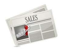 Business sales newspaper illustration design Stock Photography