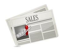 Business sales newspaper illustration design Stock Photography