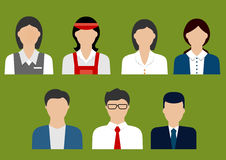 Business and sales profession flat avatars Royalty Free Stock Photography