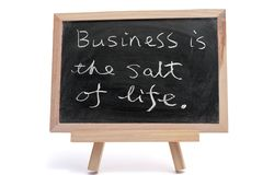 Business is the salt of life Stock Image