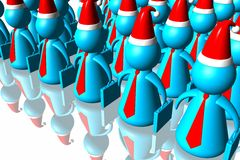 Business santa army Stock Photography