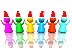 Business santa army Stock Images