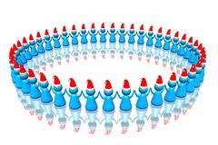 Business santa army Stock Photo