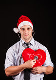 Business santa claus Stock Photography