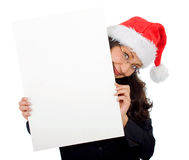 Business santa holding Royalty Free Stock Photography