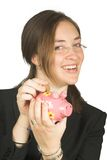 Business savings - piggy bank Stock Photography