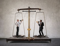 Business scale Stock Image