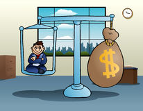 Business scale money Stock Photos