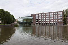 Business school of amsterdam university on roeterseiland in the Royalty Free Stock Photos